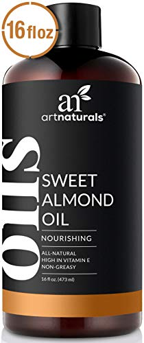 ArtNaturals Premium Sweet Almond Oil - 100% Natural & Pure Therapeutic Grade