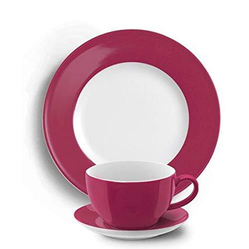 Dibbern SONDERAKTION Solid Color - Kaffeetasse m.U. 0,25 + Teller 21 cm - Himbeere - NEU