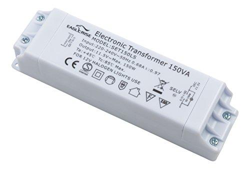 conecto X-HT020 by Eaglerise Halogentransformator 12V/50-150 Watt, 220-240V, 50Hz, dimmbar mit Phasenanschnittsdimmer