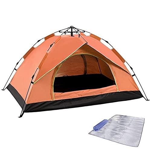 COJJ Family Camping Tienda 3-4 Personas Tienda, Impermeable, Amplio, Amplio, Tienda de Mochila portátil Liviana para Camping al Aire Libre/Senderismo