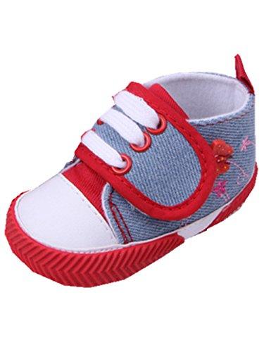 YICHUN Bébé Chaussures de Premier Pas Chaussures Souples Chaussure de Loisir Antidérapant (Longueur de Semelle:11CM, Rouge)