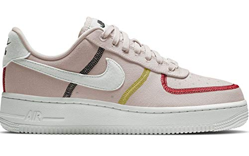 Nike Wmns Air Force 1 '07 LX, Zapatillas de básquetbol para Mujer, Silt Red Summit White BRT Citron Univ Red Black, 35.5 EU