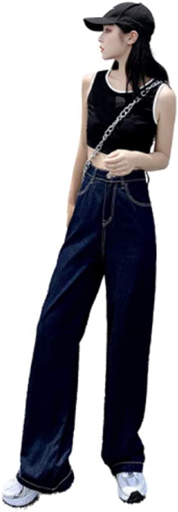 Women's Autumn Wide-Leg Pants Regular-fit Thin Straight-Leg Loose Casual