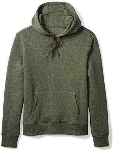 Amazon Essentials Men's Hooded Fleece Sweatshirt, Olive Heather, X-Small