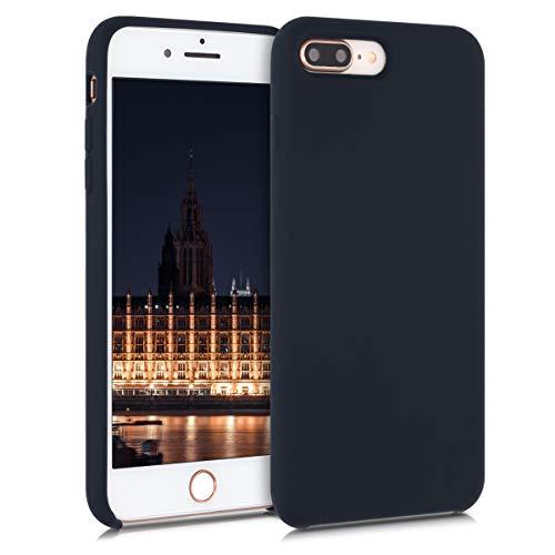 kwmobile Cover Compatibile con Apple iPhone 7 Plus / 8 Plus - Cover Custodia in Silicone TPU - Back Case Protezione Cellulare Blu Mirtillo