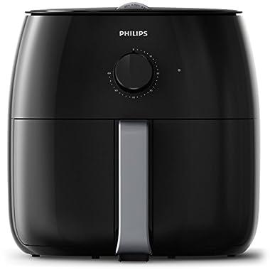 Philips HD9630/98 Avance XXL Twin Turbostar Airfryer (3lb/4qt), Black