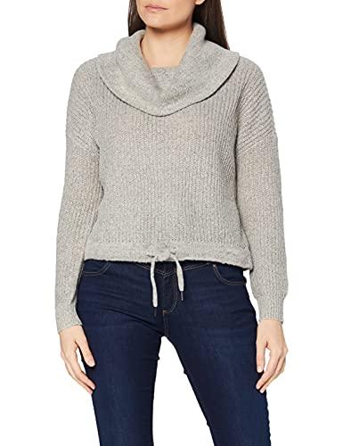 ONLY Damen Pullover onlNIA L/S ROLLNECK KNT, Gr. 36 (Herstellergröße: S), Grau (Light Grey Melange)