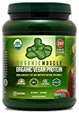 Organic Vegan Protein Powder - Great Tasting Chocolate Flavor W/ 24g of Protein -100% Organic Plant...