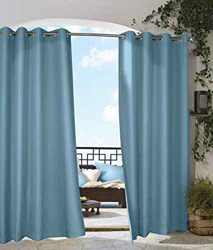 extérieur Décor Tonnelle Intérieur Extérieur Panneaux de fenêtres, 50 par 96, Bleu