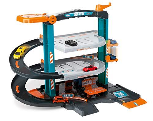 Majorette - Garage City Flex + 5 Véhicules - 2 Niveaux avec Ascenseur + Atelier Mécanique - Fabriqué en France - 212058391