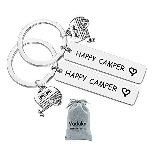 Happy Camper RV Keychain, 2 Pcs