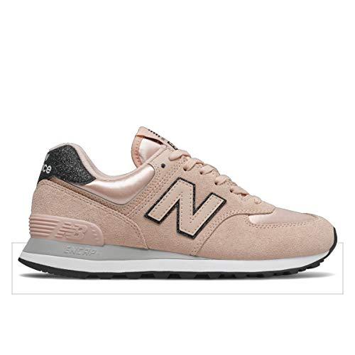 New Balance WL574 - Zapatillas deportivas para mujer, color beige y rosa, Mujer, Beige Rosa Algo, 42.5 EU