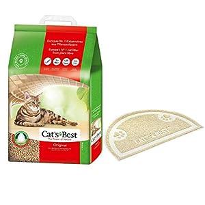 CAT'S Best Katzenstreu mit Matte für Katzentoilette, Öko, Klumpstreu für Katzen, für schnelle Geruchsbindung, Klumpend… 2