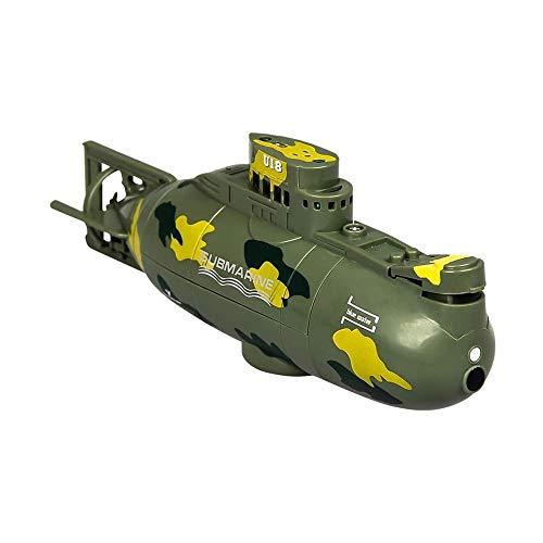 LKNJLL Mini Submarino Remoto de Control eléctrico Recargable 3.7V Barco de Juguete Impermeable Profesional Submarino simulado Buque de 2,4 GHz RC lancha rápida for niños y Adultos (Color : A)