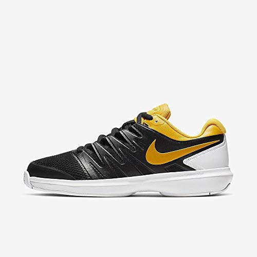 Nike Air Zoom Prestige HC, Zapatillas de Tenis para Hombre, Multicolor (Black/University Gold/White 3), 38.5 EU