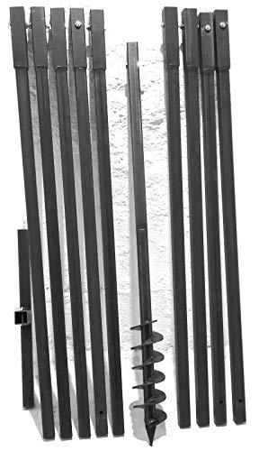 MWS-Apel 90 mm 10 Meter Erdbohrer Brunnenbohrer Handerdbohrer Erdlochbohrer Brunnenbau Pfahlbohrer brunnenbohrgerät