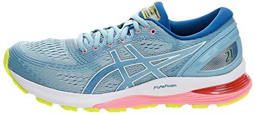 Asics Women's Gel-Nimbus 21 Running Shoes, Blue (Heritage Blue/Lake Drive 402), 5 UK