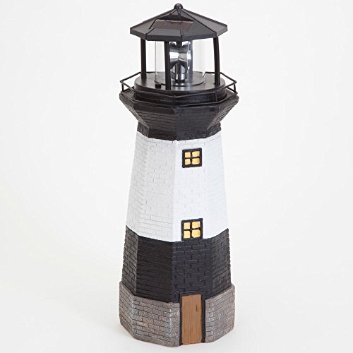 Solar outdoor Lighthouse With Rotating Lamp