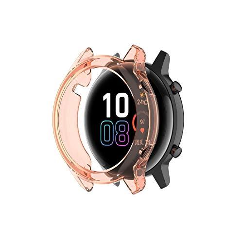 BZN Smart Watch Case per Huawei Honor Magic Watch2 46mm TPU Avvolto Custodia a metà Caso Vuoto (Color : Transparent Orange)