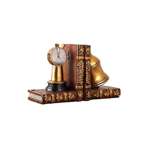Extremos de libro Sujetalibros pesados decorativos Muebles de arte de escritorio de oficina Soporte para estantes de libros Sujetalibros de resina 1 par de soportes para sujetalibros, tapones para l