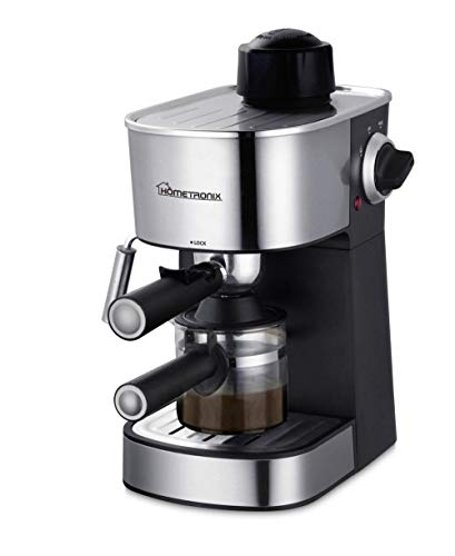 YesUKDirect HomeTronix 4 Bar Coffee Maker Machine Espresso Latte Cappuccino Stainless Steel