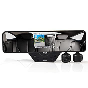 Upgraded Pyle Dual Dash Cam Car DVR HD 1080p 3.5  LCD Display Loop Recording Night Vision LED 120 Degree Wide-Angle Lens Front & Rear View Reverse Parking Night Vision Waterproof Adjustable