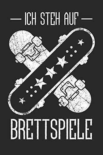 Notizbuch: für Skater und Skateboarder ♦ über 100 Seiten Dot Grid Punkteraster für alle Notizen, Tricks oder Skizzen ♦ handliches 6x9 Jounal Format ♦ Motiv: Brettspiele