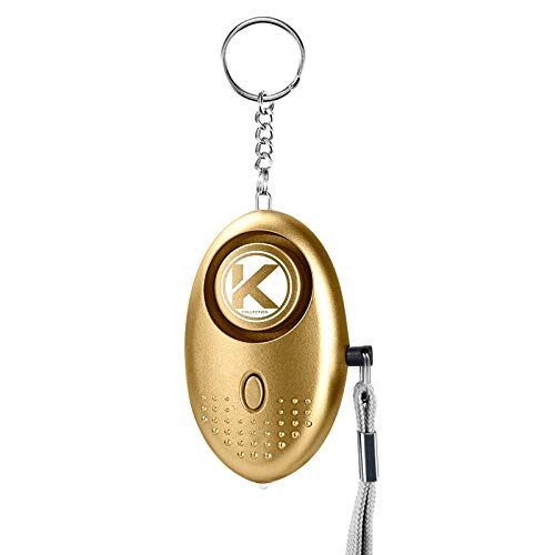 Kadima Collection Personal Keychain Alarm Emergency Self Defense Alarm for Women Personal Security Alarm Self Defense Emergency LED Flashlight for Men, Women, Kids,Girls & Elderly 140DB (Gold)