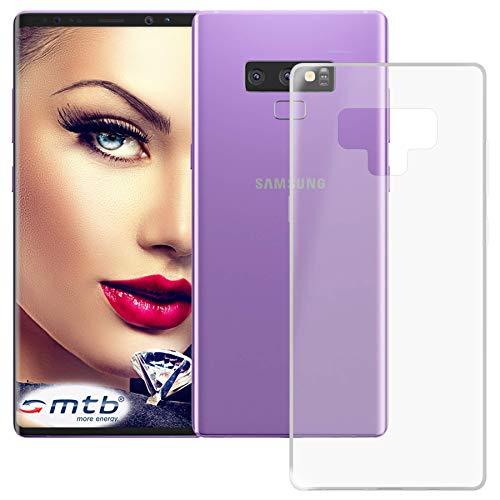 mtb more energy® Schutz-Hülle Clear und Slim für Samsung Galaxy Note 9 (SM-N960, 6.4'') - transparent - flexibel - TPU Silikon Hülle Cover Tasche