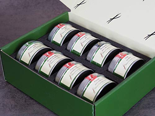 Altes Gewürzamt Gewürz Geschenk-Box groß - Omas Küche - Lorbeerblätter, Kümmel, Wacholderbeeren, Gewürznelken, Zimtrinde, Muskatnuss, Piment und Chili