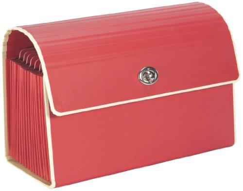 Piccolo portadocumenti con chiusura in metallo rosso +++ Cartella raccolta +++ qualità originale SEMIKOLON