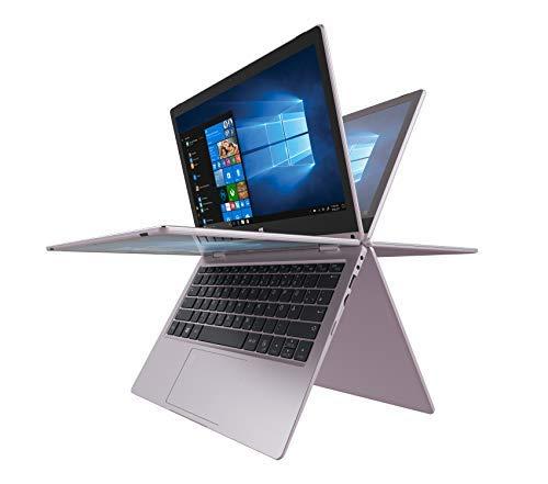 TREKSTOR YOURBOOK C11B-CO, Convertible (11,6 Zoll Full-HD IPS Touch Bildschirm, Intel Celeron N3350, 4 GB RAM, 64 GB Speicher, Fingerprintsensor, Windows 10, inkl. Office 365 & Sofatutor) (roségold)