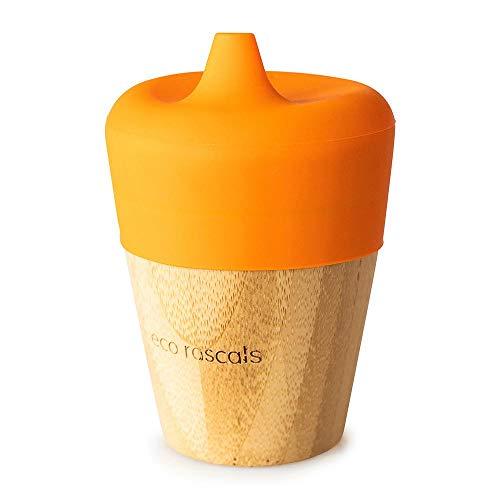 RASCALS Vaso Bamboo Eco 190 ml. + Tapa Bebedor, Niños, Naranja, Talla Única