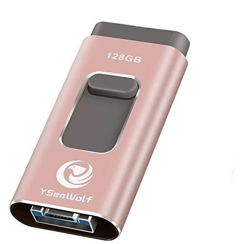 USB Flash Drives YSeaWolf 128GB [3-in-1] OTG Jump Drive,Flash Drives External Micro USB Memory Storage Pen Drive
