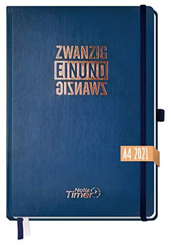 Chäff Wochen-Notiz-Kalender 2021 A4 [Nachtblau] Wochenplaner, Notiz-Timer, Terminplaner, Wochenkalender, Organizer, Terminkalender mit Einstecktasche | nachhaltig & klimaneutral