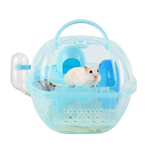 Megawa Hamster portátil para mascotas, jaula de hábitat, ligera, transportador de viaje, hámster sirio, hámster, hámster, hámster pequeño, casa de animales