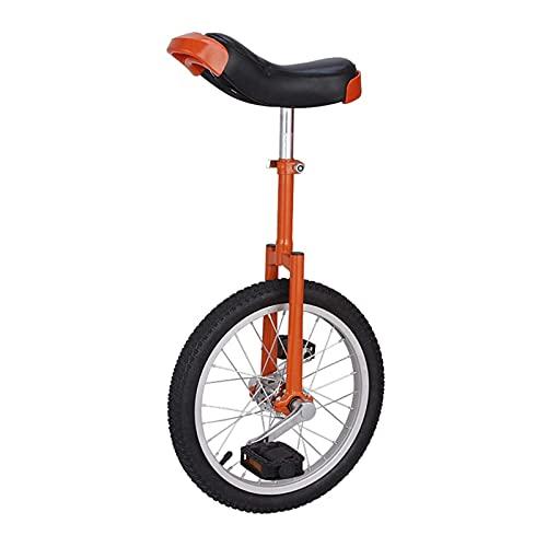Bicicleta Monociclo para Niña Y Mujer, 16/18/20 Pulgadas, Neumático Antideslizante, Ejercicio, Equilibrio Físico, Ciclismo para Adultos/Niños Grandes/Principiantes/Entrenadores, Llanta De Alea