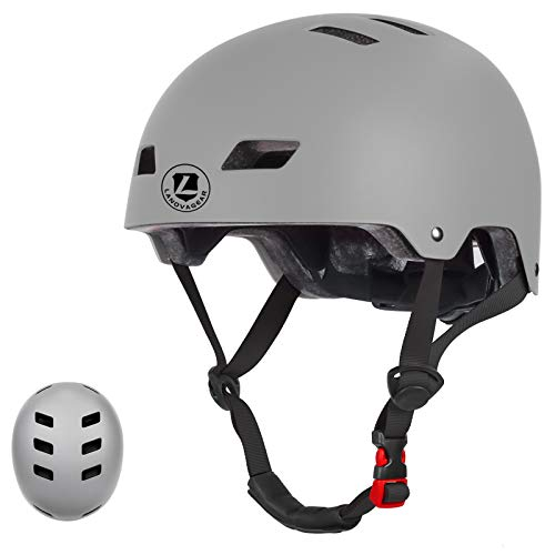 LANOVAGEAR Toddler Bike Helmet for Kids Youth 2-14 Years Old Girls Boys, CPSC Certified Adjustable Helmet, for Cycling Scooter Skating (Gray, S)
