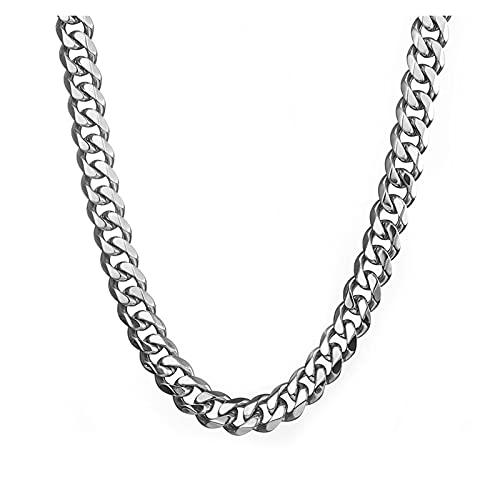 JIAH Collar de cadena de hip hop para hombre, de acero inoxidable que nunca se desvanece de 15 mm de ancho, cadena cubana de regalo de joyería hiphop (longitud 65 cm), color de metal: 15 mm de ancho)