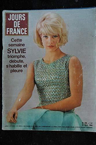 JOURS DE FRANCE 496 16 mai 1964 SYLVIE VARTAN Cover + 8 pages Cannes 1964 La Renault MAJOR - 160 pages