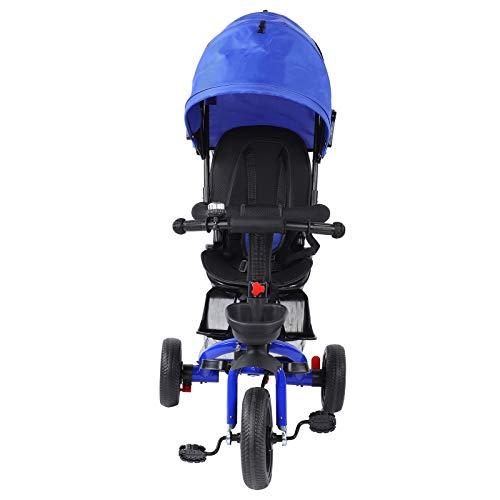 Fybida Triciclo de bebé Cochecito de bebé para niños Interior al Aire Libre(Red)