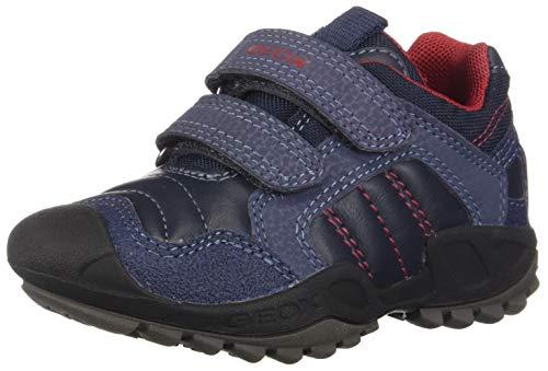 Geox J New Savage Boy A, Zapatillas para Niños, Azul (Navy/Red C0735), 27 EU