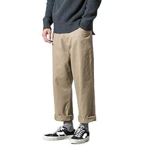 Monos de Color Liso para Hombre Pantalones Casuales Pernera Recta al Aire Libre Cómodo Pantalones Cargo Resistentes al Desgaste Ajuste Holgado M