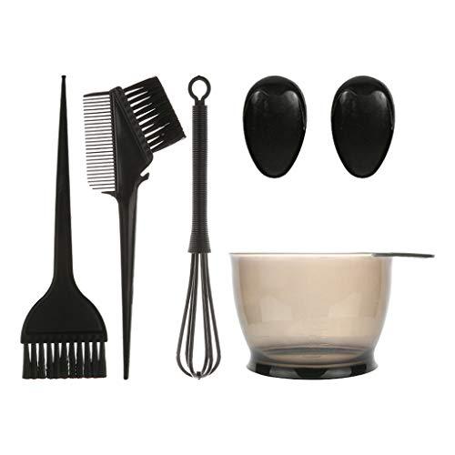Haptian 5 Pcs Cheveux Coloration Teinture Kit Couleur Brosse Peigne Mélange Bol Salon Teinte Outil Ensemble