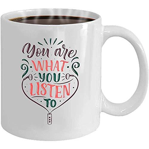 Taza de café - Cita inspiradora de regalo para compradores sobre mús