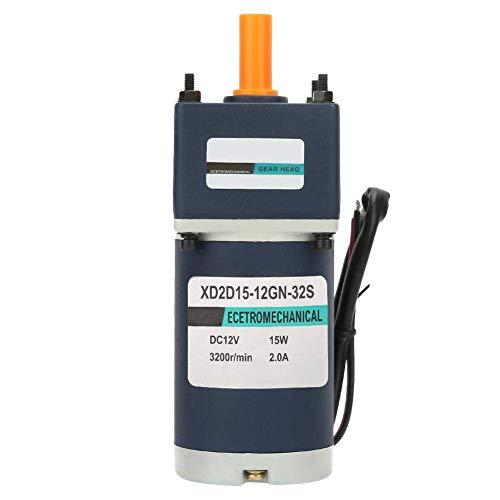 BINGFANG-W Reducción del motor, DC12V 15W CW/CCW 8mm Shaf XD2D15-12GN-32S imán permanente motor del engranaje ajustable de velocidad del motor eléctrico con caja de cambios (130RPM) Herramientas