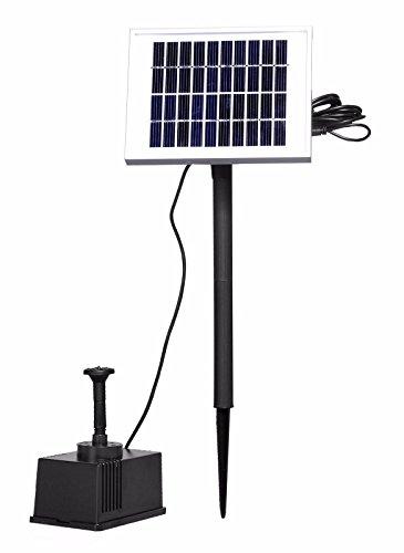 Froadp 2W Solar Vijverpomp Fonteinpomp Zonnepomp Tuinfontein Waterornament Fontein Vijverfontein Pomp voor Tuin Terras Gazon Mini Vijvers Watertuinen Tuindecoratie(9V, Type A)