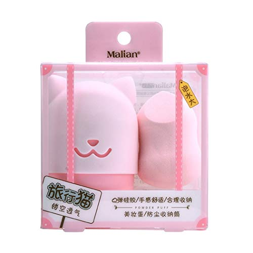 OJKM betrouwbare Make-up Sponge Blender Travel Case Silicone Beauty Sponge Travel Case Blender Houder Schoonheidsmake-up Als afbeelding
