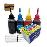 Inchiostro ricaricabile 29XL e flacone da 4 x 50 ml, compatibile con stampanti Expression Home XP-255 XP-257 XP-352 XP-355 XP-452 XP-455 XP-235 XP-245 XP-332 XP-335 XP-432 XP-435 XP-247 XP-442