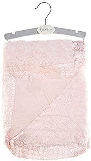 Kyle & Deena Plush Baby Blanket with Satin Trim (Coral Pink)